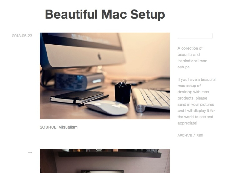 beautiful mac setup